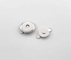 Кнопка магнитная 14 мм (никель)
