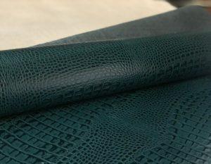 Кожа Кайман Зеленый 1.2-1.4 мм