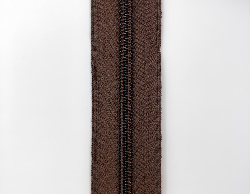 Молния рулонная пластик. Т5 (коричневая)