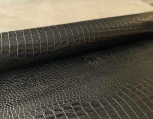 Кожа Кайман Черный 1.2-1.4 мм